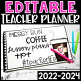 Editable Teacher Planner 2019-2020 Teacher Calendar - FREE UPDATES!