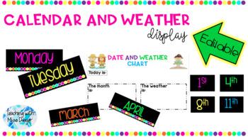 Editable Calendar and Weather Chart