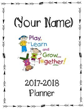 Editable Calendar/planner 2017-2018