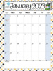 Editable Calendars 2017-2018 Polka Dot - August 2017 to December 2018