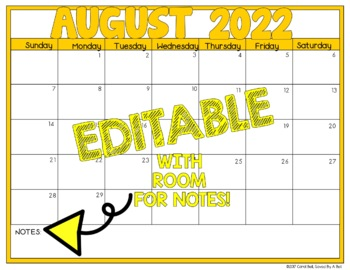 Editable Calendars 2017-1018