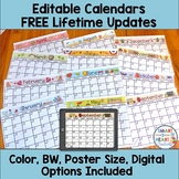 Editable Calendars 2017-2018 (LIFETIME UPDATES)