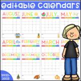 Editable Calendars 2021-2022 | Printable | Digital | Dista