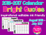 Editable Calendars: Bright Quotes