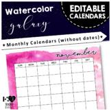 Editable Calendars - Jan 2018 to Dec 2019 {Space Galaxy Theme}