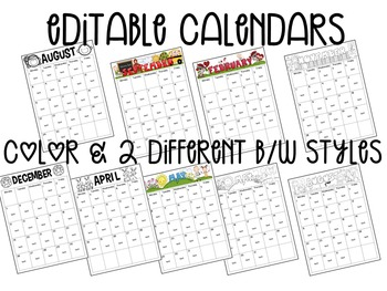 Editable Calendars, Newsletters & Forms