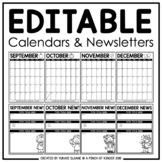 Editable Calendars & Newsletters: August 2020-June 2021