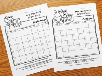 Editable Behavior Calendar - Behavior Chart - Monthly Calendar