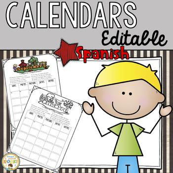 Editable Calendars **SPANISH Only**