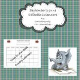 Editable Calendars September to June