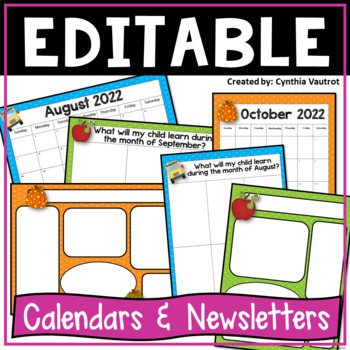 Editable Calendars and Newsletters {Bright Polka-Dots}