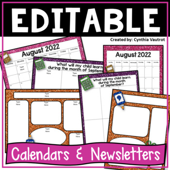 Editable Calendars and Newsletters {Glitter}
