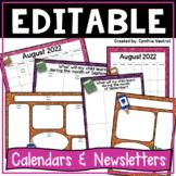 Editable Calendars and Newsletters {Glitter}