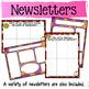 Classroom Newsletters and Teacher Calendars {editable} (Year Round Theme)