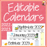 2019-2020 Calendar Printable and Editable