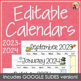 2021-2022 Calendar Printable and Editable