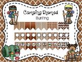 Editable Camp Themed Bunting