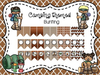 Editable Camp Themed Bunting