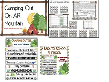 Back To School Camping Editable Bundle Flipbook, Powerpoint, Labels, Rules, More