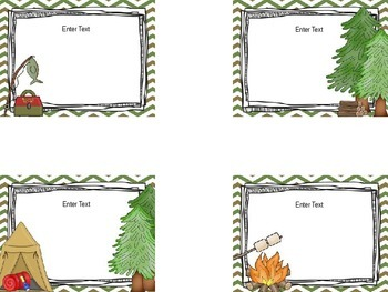 Editable Camping Back To School Labels
