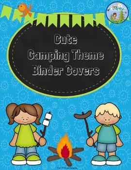 Editable Camping Binder Covers