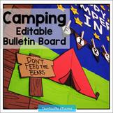 Editable Camping Bulletin Board Display | Back to School B
