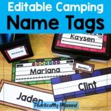 Editable Camping Name Tags