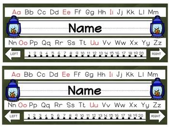 Editable Camping Nameplates