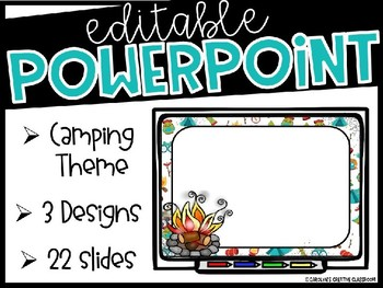 Editable Camping PowerPoint Slides - Make Presentation or Posters