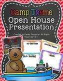 Editable Camping Theme Open House Presentation