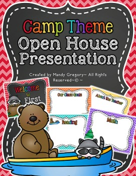 Editable Camping Theme Open House Presentation