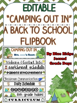 Camping Theme Editable Back To School Flipbook
