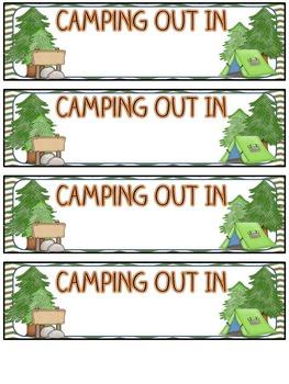 Camping Theme Editable Flipbook Back To School & Meet The Teacher