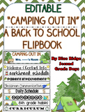 Camping Theme Editable Flipbook Back To School & Meet The Teacher