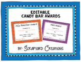Editable Candy Bar Awards (6 Colors)