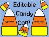 Editable Candy Corn Labels for your Classroom and Home!