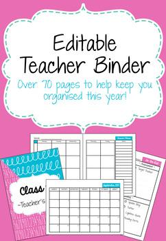 Editable Candyfloss Teacher Binder 2017-18 with free updates