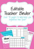Editable Candyfloss Teacher Binder 2018-19 with free updates