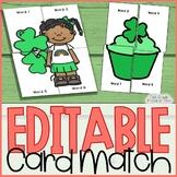 Editable Sight Word Games St. Patricks Day