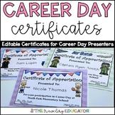 Career Day Certificates (editable)