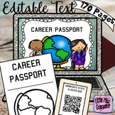 Editable Career Passport Bundle with Soft Skills Rotations, QR Codes, & Posters