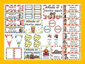 Carnival Calendar Set {Spanish Version} EDITABLE!