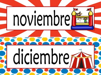 Carnival Calendar Set {Spanish Version} EDITABLE!