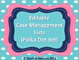 IEP Caseload Management - Editable Sheets (Polka Dot Set)