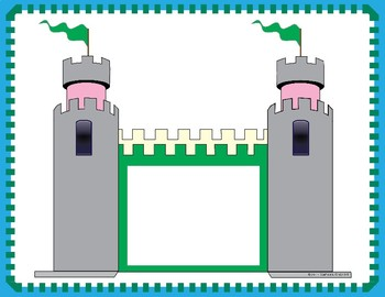 Editable Castle-Themed Word Wall Poster