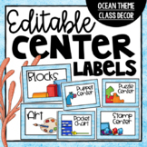 Center Labels ~ Editable Ocean Theme