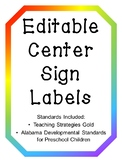 Editable Center Labels - with Standards! (includes TS Gold