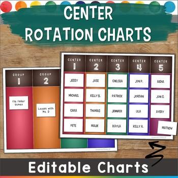 Editable Center Rotation Charts