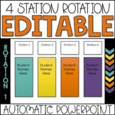 Editable Center Rotation PowerPoint