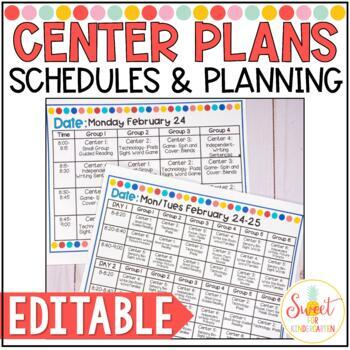 Rotation Schedule Editable Worksheets Teaching Resources Tpt